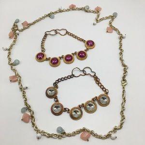 Jewelry - Jasper quartz necklace crystal bracelet extension